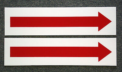 2 Arrow 6 X 24 Real Estate Sign Riders 2 Sided Outdoor New Free Ship