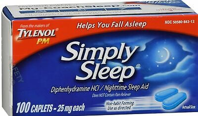 Tylenol Simply Sleep Nighttime Sleep Aid Caplets, 100 - Sleep Caplets