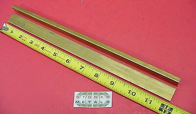 2 Pieces 14 X 34 C360 Brass Flat Bar 12 Long Solid .250 Mill Stock H02