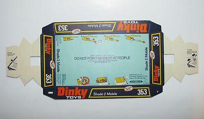 Dinky 353, Shado 2 Mobile - Original Box Base (rare) Socle de Boîte d'Origine