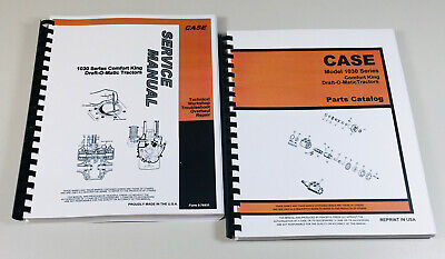Case 1030 Series 1031 General Purpose Tractor Service Manual Parts Catalog