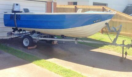 40HP Mariner engine + 4.3m (14ft) aluminium power boat Wynnum West Brisbane South East Preview