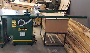 """Craftex table saw 10"""" left tilt cabinet saw 3hp"""