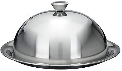 Stainless Steel Food Cover Cloche Plate Platter with Domed Cover Serving Dish](Serving Dishes)
