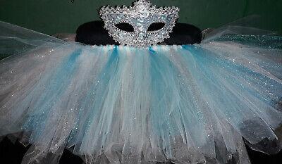 Light Blue Glitter Adult TuTu Mardi Gras Masquerade - New Orleans Kostüme