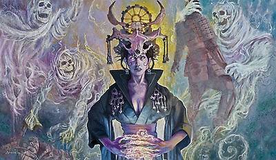 MTG Yugioh Playmat Artists of Magic MOTO DAIKEN w/art by SAM FLEGEL