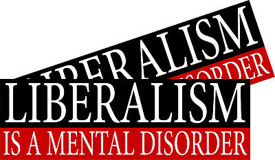 Mental Disorder Bumper Stickers (Liberalism is a Mental Disorder Conservative 2 Funny Bumper Stickers 8.8
