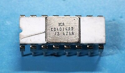 Vintage Rca Cd4014ad Ceramic Ic Integrated Circuit Cerdip14 - Rare Nos