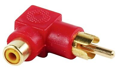 GOLD PLATED MALE TO FEMALE RCA ADAPTER RED MARANTZROTEL PIONEER ONKYO SONY B&W