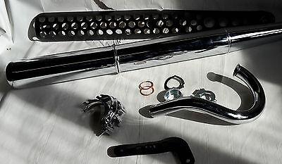 Auspuff Krümmer Hitzeschild pass f Simson S50 S51 S53 S70 S83 Enduro schwarz Set