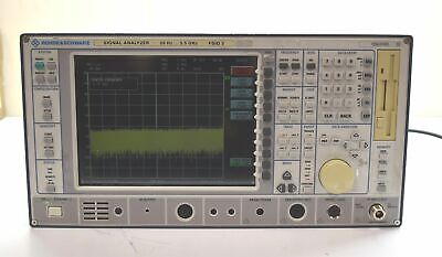 Rohde Schwarz Vector Signal Analyzer Fsiq 3 20hz-3.5ghz Power On Not Calibrated