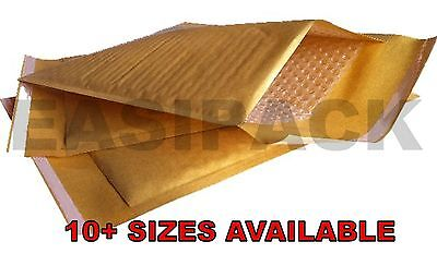 MP BUBBLE LINED ENVELOPES MAILERS MAILING PADDED BAGS *ALL SIZES* GOLD Bubble Lined Mailers Cushioned Mailing