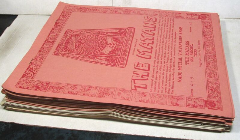 The Mayans fraternal order, San Antonio, 17 booklets, 1940-1944
