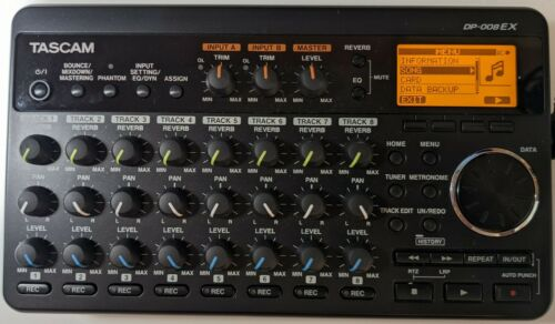 TASCAM DP-008EX 8-track Digital Portastudio and SD Recorder with Built-in...