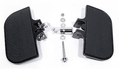 Trittbretter Set verstellbar Schwarz Fahrer Sozius für Harley-Davidson HD Custom