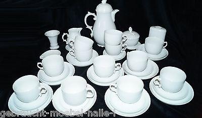 Alt Fürstenberg Porzellan Kaffeeservice 39 tlg Rose weiß RAR