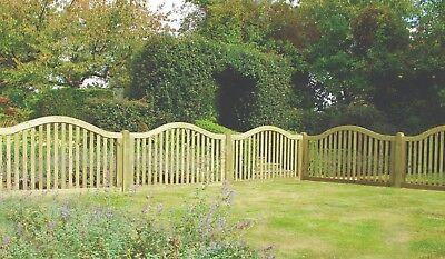 garden fence - Omega Border Panel 1.8m x 105cm Wooden Garden Fence Panel - Pressure Treated