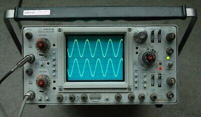 Tektronix 465b 100mhz Two Channel Oscilloscope Two Probe Power Cord Snb065740