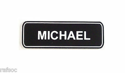 1x3 Employee Personalized Name Tag Badge Custom Engraved Magnet Latch