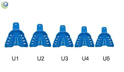 Dental Plastic Edentulous Disposable Impression Trays Autoclavable Upper 5 Sizes