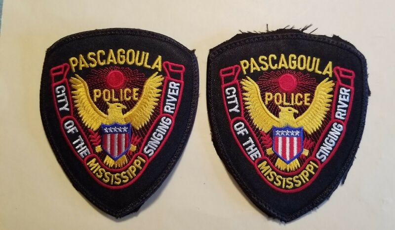 Pascagoula (MS) Police Department Patches - Set of 2