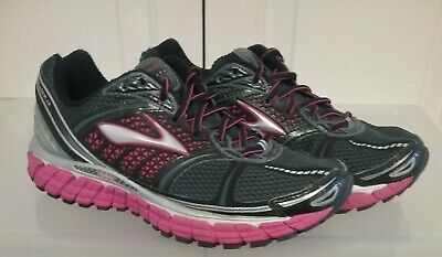 ab65308e25d Brooks Women s Shoes Trance 12 Running Charcoal Black Pink Lace Up Sz 8