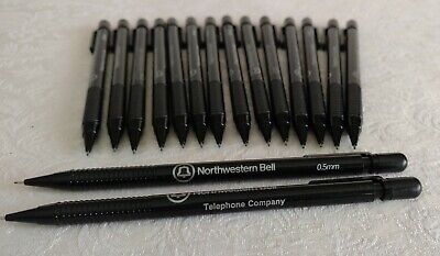 Lot 16 Northwestern Bell Telephone Company Mechanical Pencils 1970s Never Used