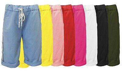 Sweatshorts uni - Damen-Shorts - kurze Hose - Caprihose - Bermuda JogPants 36-42 - Damen Kurze Hose