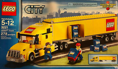 LEGO CITY TRUCK 3221 *RETIRED* 100% COMPLETE WITH INSTRUCTIONS YELLOW SEMITRUCK