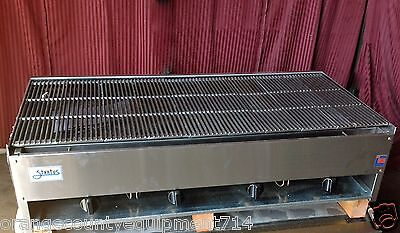 New 48 Lava Rock Char Broiler Grill Gas Stratus Scb-48 1227 Commercial Burger