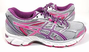 ASICS Women's GEL-Equation 8 Running Shoe Silver/Grape/Hot Pink Size 5D (Wide)
