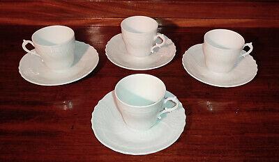 Richard Ginori Set Tazzine Piattini Caffè (4) Porcellana