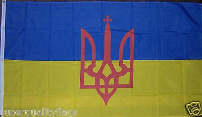 UKRAINE flag TRIDENT NEW 3x5 ft UKRAINIAN 90X150 cm usa seller