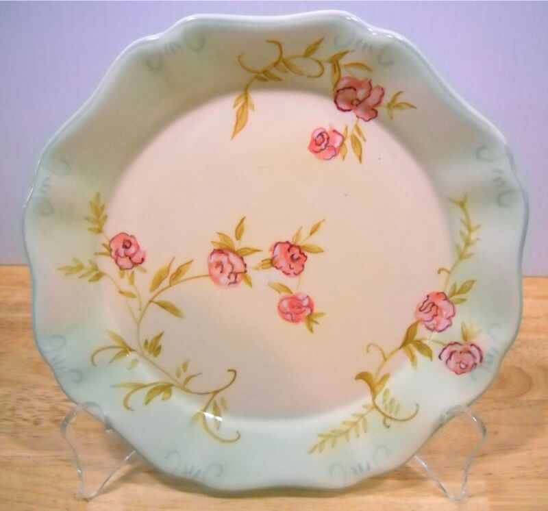 Tracy Porter Roses Floral Salad Dessert Plate Set of 3