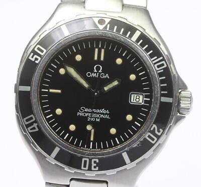 OMEGA Seamaster 200m Date Black dial Quartz Men's Wrist Watch_480268