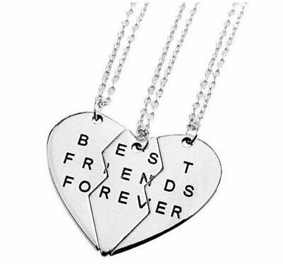 3pcs lot Jewelry Necklaces Best Friend Metal Necklaces Couples