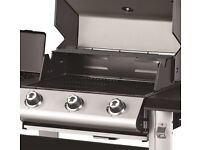 Outback Magnum 3 Burner Gas Barbecue BBQ Garden food cooler