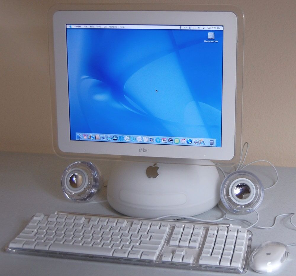 """apple imac G4 pc45in Newcastle, Tyne and WearGumtree - apple iMac G4 PC in excellent condition 1ghz CPU 80gb hardrive 15"""" LCD screen CD writer iTunes 3 USB slots Ethernet apple pro speakers apple pro mouse apple pro keyboard will need apple airport to get online has not got WiFi otherwise excellent for..."""