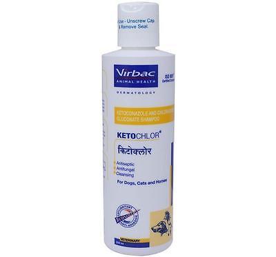 Virbac Ketochlor Shampoo For Dog Cat Horse 200ml Antiseptic Antifungal Vet Care