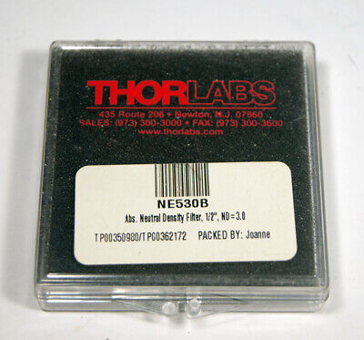 Thorlabs 12 Dia. Absorbtive Nuetral Density Filter Nd 3.0 Ne530b