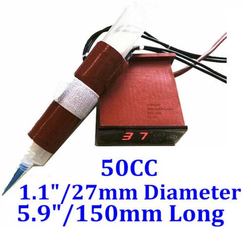 50cc Air Syringe 150mm long 27mm diameter 110V 45W Heater w/ Digital Controller