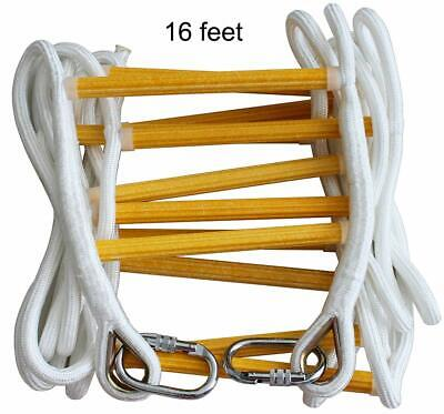 Fire Escape Ladder 2 Story & 3 story- Solid Flame Resistant Fire Safety Rope ...