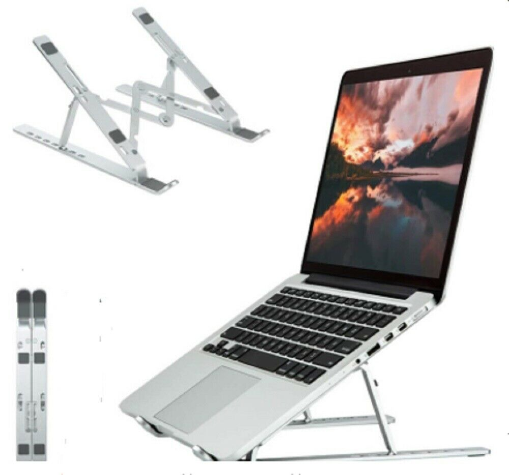Adjustable Aluminum Laptop Stand For Desk Portable Laptop Riser Laptop Holder US Computers/Tablets & Networking