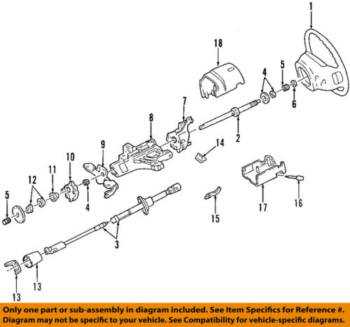 Genuine Ford F2UZ-3524-A Steering Shaft Assembly