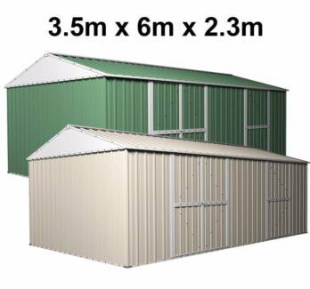 garden shed 35m x 6m x 23m workshop side double doors pa door