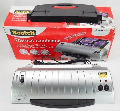 New Scotch Tl901 9 3 Mil 5 Mil Thermal Laminator Open Box Free Ship