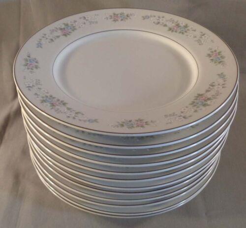 """Set of 12 Carlton China Corsage 481 7-1/2"""" Salad Plates Japan"""