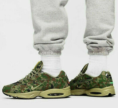 NIKE AIR MAX TRIAX 96 SP Trainers - Camouflage Safari Green UK...