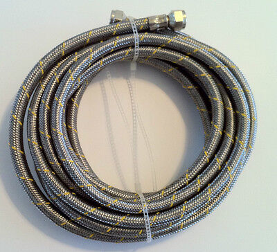 Propane  Natural Gas Line 10 Ft Stainless Steel Braided Hose Lp Lpg Grill Parts