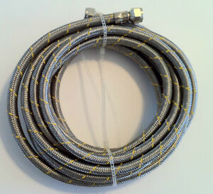 Propane, Natural Gas Line 10ft Stainless Steel Braided Hose LP LPG Grill Parts